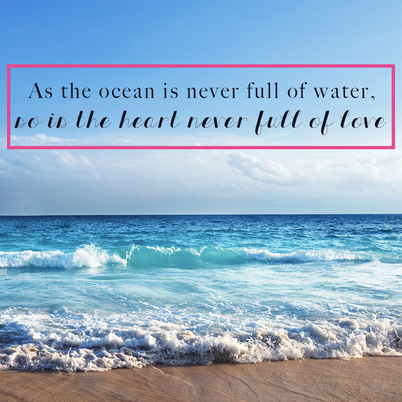 The Ocean Full Of Water Heart Love