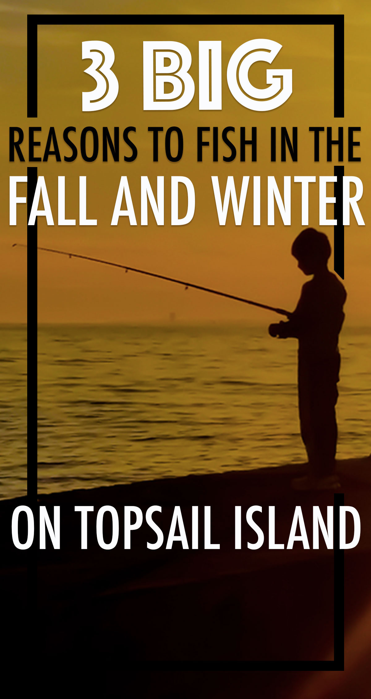 3 Big Reasons to Fish in the Fall and Winter on Topsail Island Pin